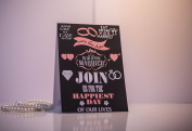 10 GLOSSY Personalised Wedding Day/Evening Invitations with 10 x Envelopes