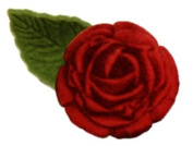 60 Single Red Rose envelope, card, invite and present Wedding Stickers