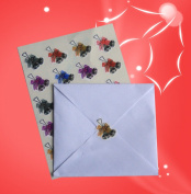 40 Christmas Silver bells and mixed bows envelope seal stickers