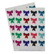 40 decorative bows envelope stickers - Mixed Colours