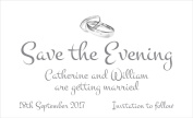 50 Personalised Save the Date Magnets. Linked Rings Wedding Magnets. Professional E-draught and Envelopes are Included.