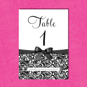 Personalised Table Numbers or Names *FREE draught* TN13
