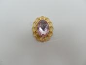 x100 Deluxe Oval Vintage Style Diamante Embellishments