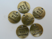x10 Round Antique Gold Embellishment Charms