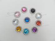 x10 Deluxe Round Diamante Rhinestone Embellishments