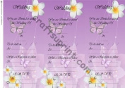 wedding invitation purple with butterflies by Sally McIntyre