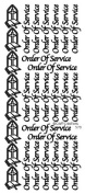 Craft Creations Peel-Off Stickers, Order Of Service