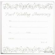 Pearl Wedding Anniversary Invitations - Pack of 10