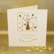 Golden Wedding Anniversary Invitations - Pack of 5