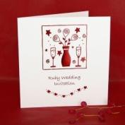 Ruby Wedding Anniversary Invitations - Pack of 5