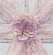 VINTAGE FLOWER CLIP AVAILABLE IN 8 COLOURS DECOR CHAIR COVER WEDDING PARTY - FREE DELIVERY
