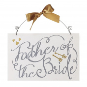 Heaven Sends Father Of The Bride Hanging Plaque (30 x 20 x 0.6cm)