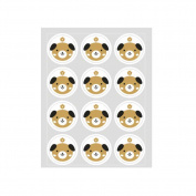 Holo Cute 50pcs Little Dog Cat Puppy Homemade Kitten Candy Cookies Bake Party Bags Sticker Gift
