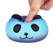 Cebbay Squeeze Toy, Cute Galaxy Panda Elastic Environmentally PU Slow Rising Cream Scented Pressure Relief Toys - 11cm