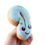 Cebbay Squeeze Toy, 1 PC Doughnut Elastic Environmentally PU Slow Rising Cream Scented Pressure Relief Toys - 11x11x4cm