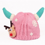 Christmas Knit Hats for Baby Kids , 2017 New Infant And Toddler Kids Christmas Elk Horn Wool Cap for Warm Winter