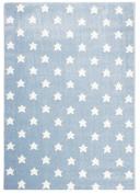 Kids rug STAR DREAMS blue/white 120x180cm