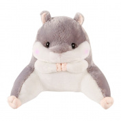 Skyoo Lumbar Pillow Hamster Cushion for Leaning on Lovely Plush Toys