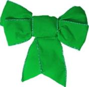 40 decorative ribbon envelope seal stickers - green