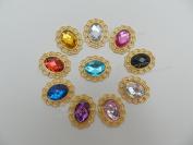 x10 Deluxe Oval Vintage Style Diamante Embellishments