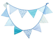 Outflower 3.2m Floral Bunting Spotty Double Sided Fabric Wedding Party Banner 12 Pennants Flags