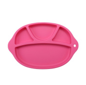 Yaxitu Silicone Baby Suction Plate,Weaning Suction Placemat Silicone Child Portable Feeding Mat Fits Most Highchair