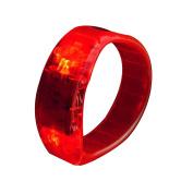 Sound Controlled Led Light Up Bracelet Glow Bangle Flash Plastic-Red