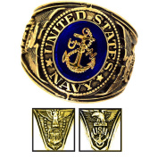 Official US Navy Deluxe Engraved Gold Colour Ring