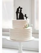 YULXS Couples acrylic wedding cake inserted card Elegant cake decoration birthday cake , black