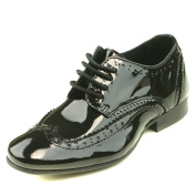 Step2wo Sonny Boys Flat Lace Up Shoe in Black