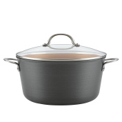 Ayesha Curry Home Collection Hard Anodized Aluminium Stockpot, 9.5l