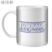 STUFF4 Tea/Coffee Mug/Cup 350ml/Blue/Strange Retro Mouth Breather/White Ceramic/ST10