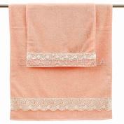 Pair Gabel Beatrice Towels with pizzo-rosa