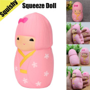 Sakura Girl Squishy Toy, Indexp Kids Simulation Elastic Anti Stress Relief Cream Scented Slow Rising Squeeze Fun Gift for ADHD