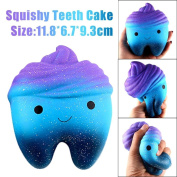 Teeth Cake Squeeze Toy Slow Rising Fidget Toys Keychain Toys for Children, Adults, Figit Focus Extrusion Pea Hand Anti-anxiety Stress Relief Chain Toys
