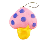 VNEIRW Colourful Mushroom Scented Squishies Slow Rising Baby Squeeze Soft Toys Stress Relief Toys