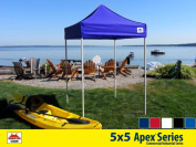 5x5 Apex Series 3 Commercial Pop Up Canopy with Royal Blue 600D top and Aluminium Frame