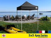 5x5 Apex Series 3 Commercial Pop Up Canopy with Onyx Black 600D top and Aluminium Frame