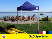 5x5 Apex Series 3 Commercial Pop Up Canopy with Midnight Blue 600D top and Aluminium Frame