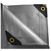 """UST Inc. 10 x 30 Heavy Duty Canopy Tarp - Silver 12 mil"""