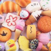 Winkey 10pcs Exquisite Fun Medium Mini Soft Squishy Bread Toys Key Gift