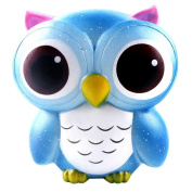 wuayi Squeeze Toys 15cm Adorable Pink Owl Cream Scented Squishy Slow Rising Collection