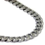 """Italian cut Titanium 10MM Curb Necklace Chain 20"""""""
