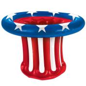(6ct) Inflatable Patriotic Hat Cooler