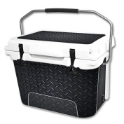Skin Decal Wrap for RTIC 18.9l Cooler cover sticker Black Diamond Plate