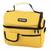Nylon Women Shoulder Strap Lunch Box Cooler Carry Tote Bag