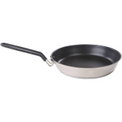Stansport Stainless Non-Stick Coated Fry Pan with Folding Handle-25cm