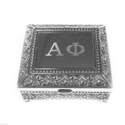 Alpha Phi Vintage Footed Jewellery/Pin Box