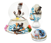 Puzzled Anchor Resin Stone Collection Jewellery Box,Snow Globe and Magnet Bottl