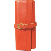 Amerileather Leather Jewellery Roll with Three Interior Pockets